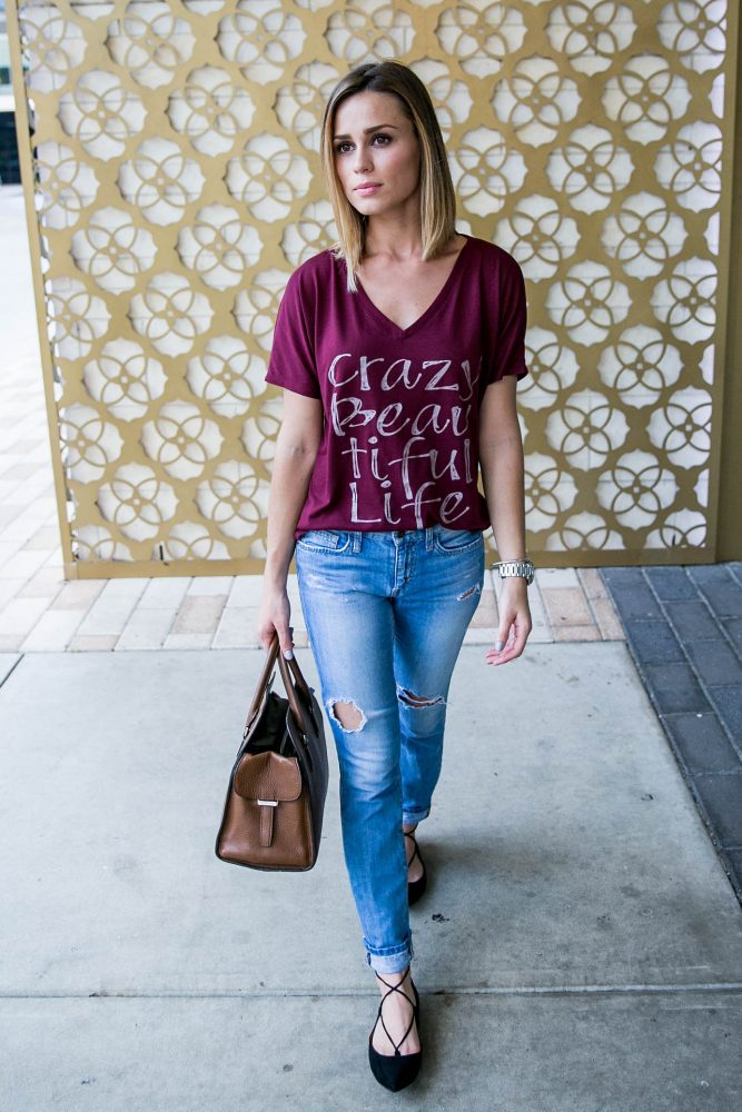 casual outfit with Sweet T's Design