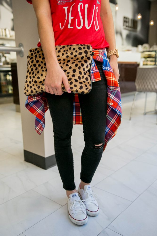 Pattern play: Animal print and plaid