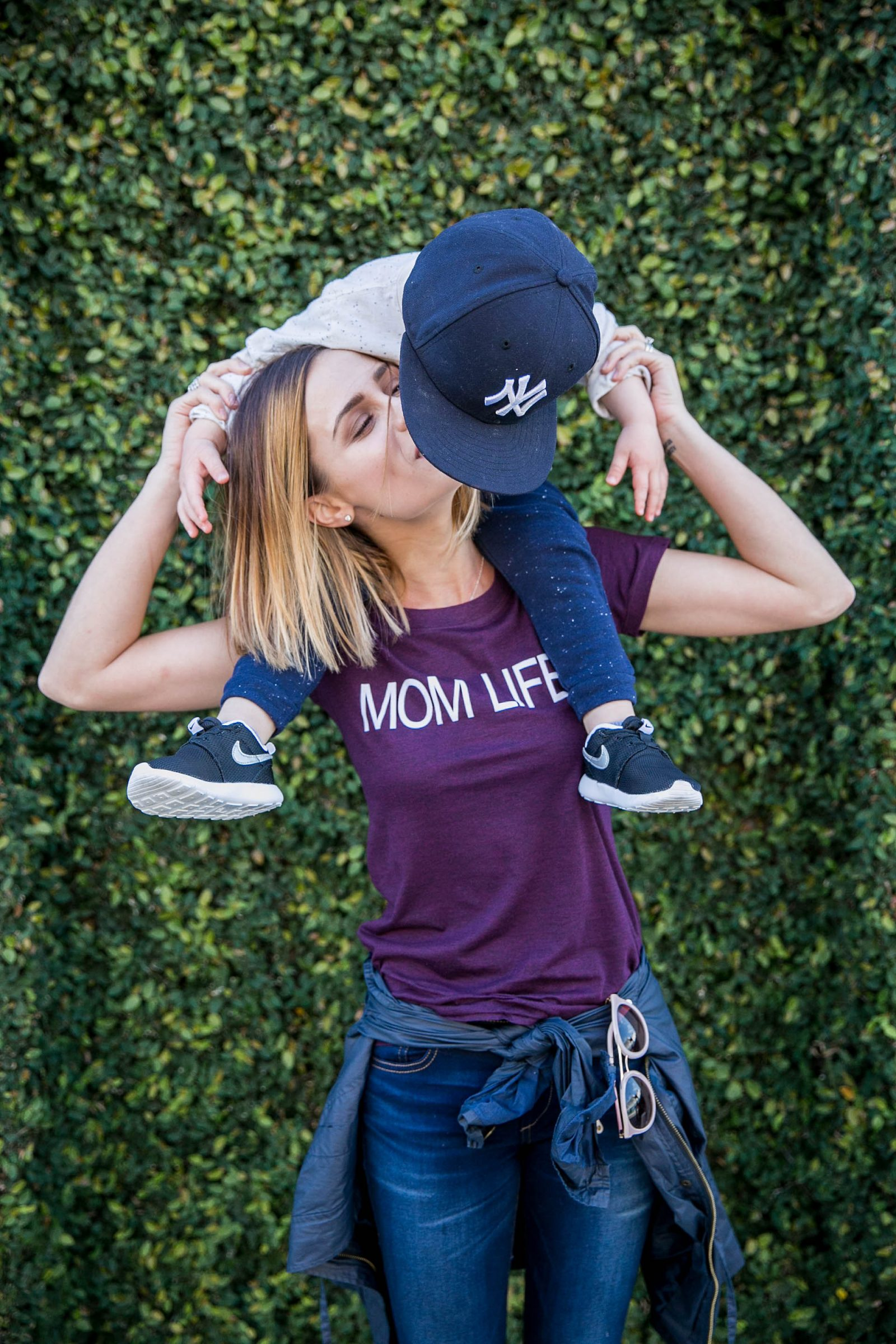 Houston lifestyle blogger Uptown with Elly Brown shares mom and son pictures