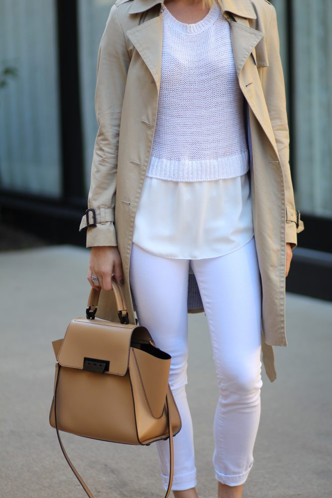 how to wear white jeans in the winter