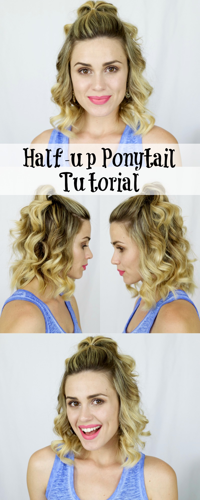 Houston beauty blogger Uptown With Elly Brown shares How to curl your hair with the NuMe classic wand pearl + a half-up ponytail tutorial for short hair!