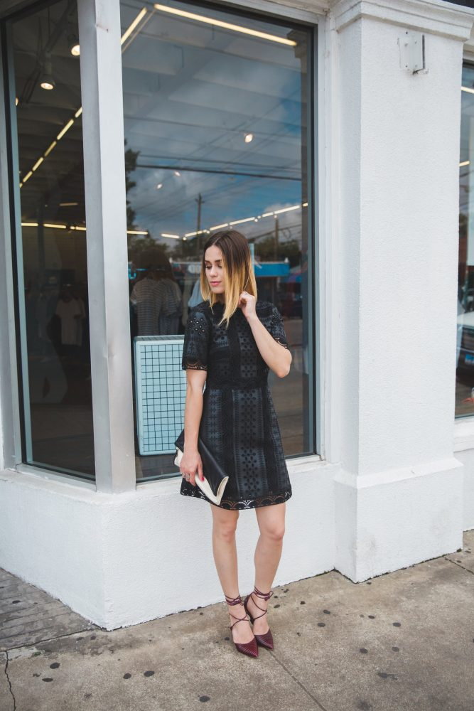 little black dress - self portrait dress
