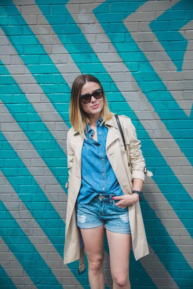 denim on denim Spring look