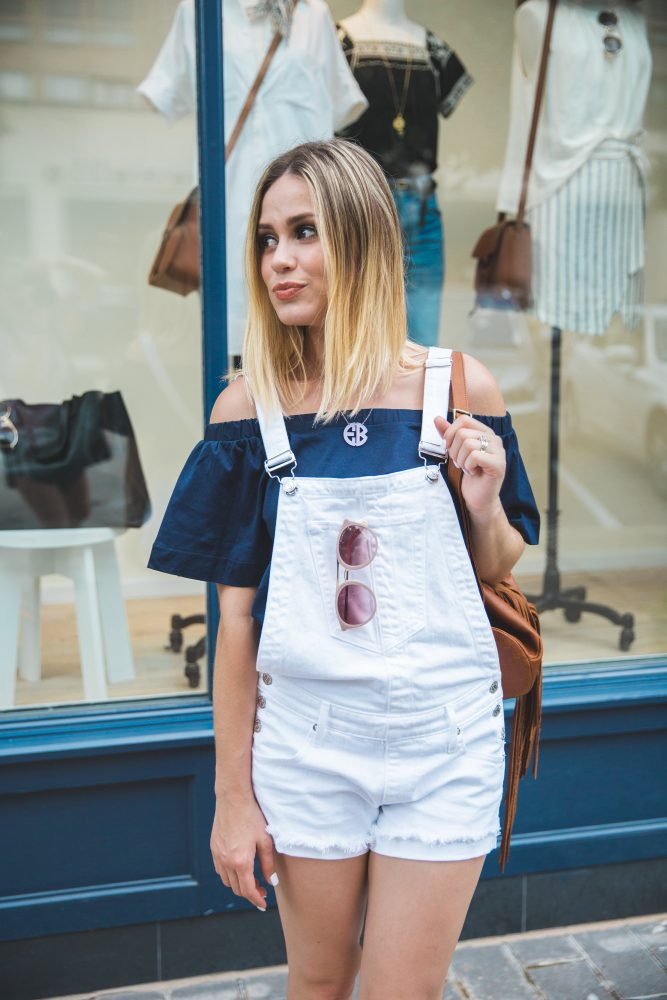 how to wear short overalls