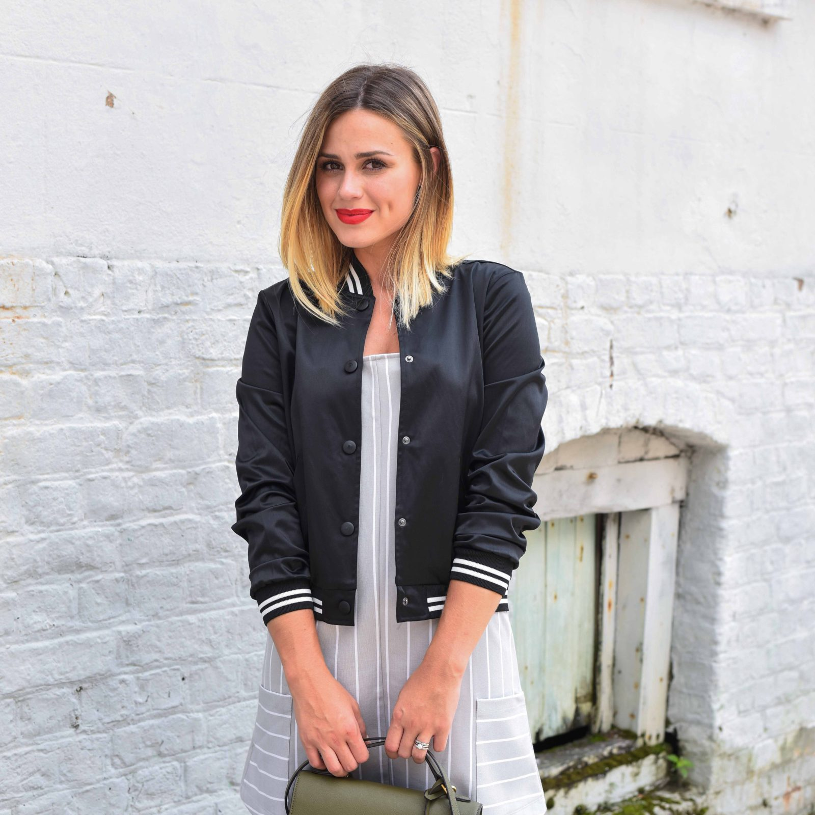How to wear a Bomber Jacket   Bomber Jackets under $100   Mommy Street Style   Uptown with Elly Brown