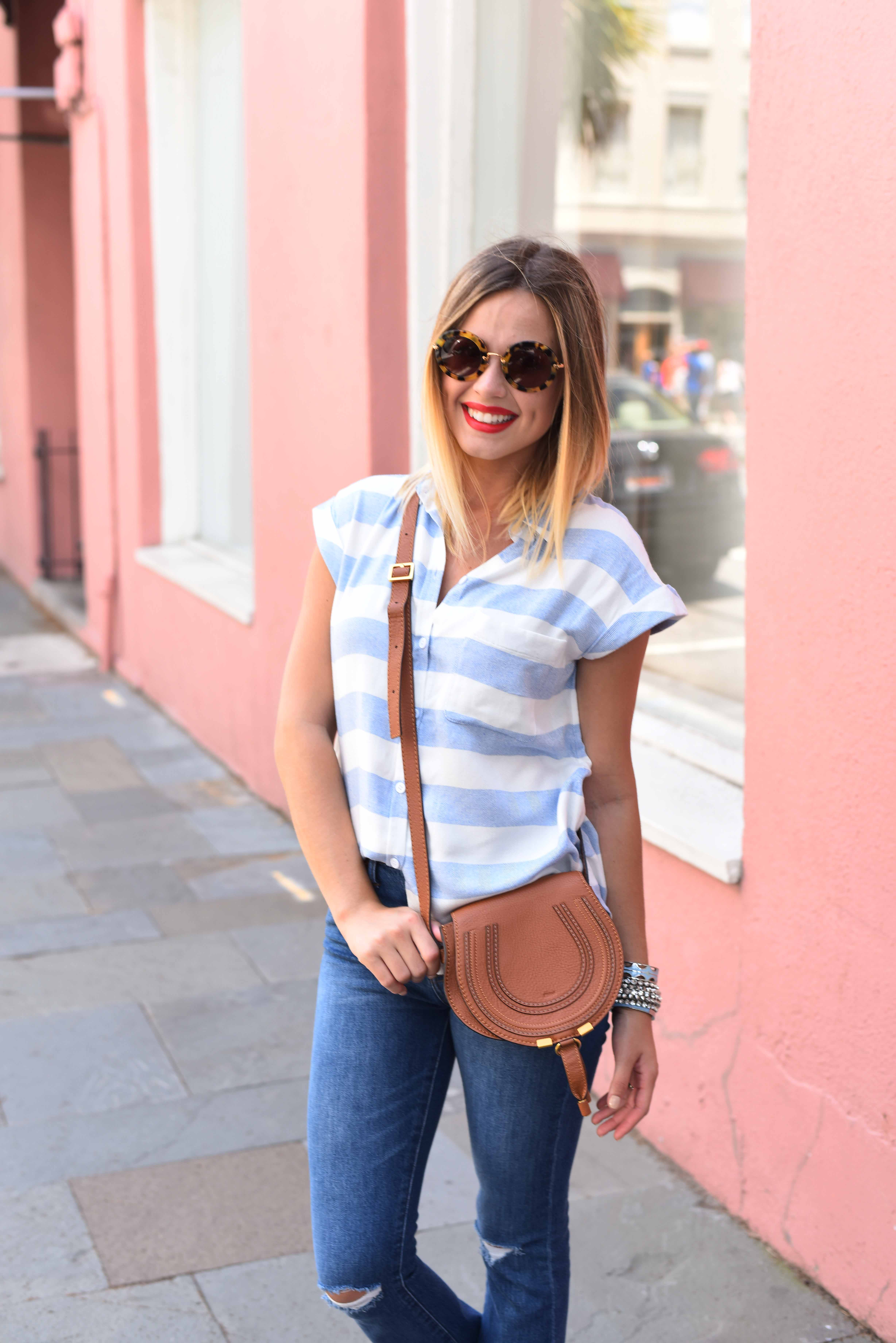 Cropped Denim look | Summer casual look | Tee and jeans look | Uptown with Elly Brown