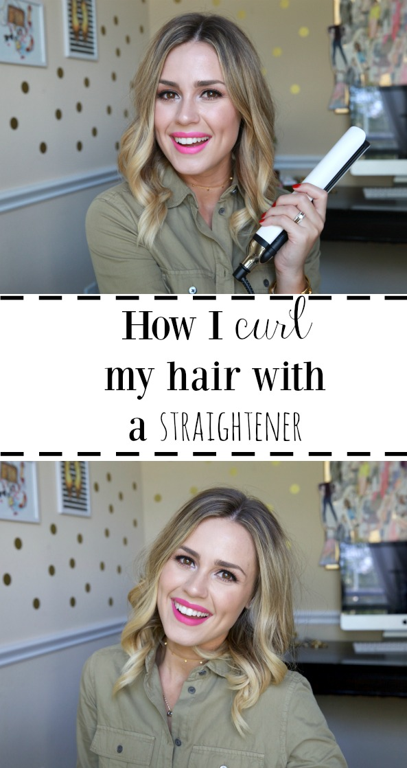 Houston Beauty & Lifestyle blogger Elly from Uptown With Elly Brown shares how she does flat iron curls and shows how she curls her hair with a straightener
