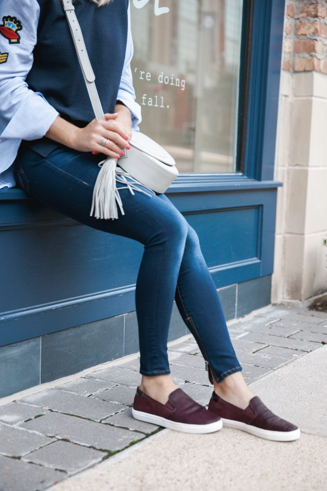 Slip on sneakers | Slip on sneaker outfit | Uptown with Elly Brown