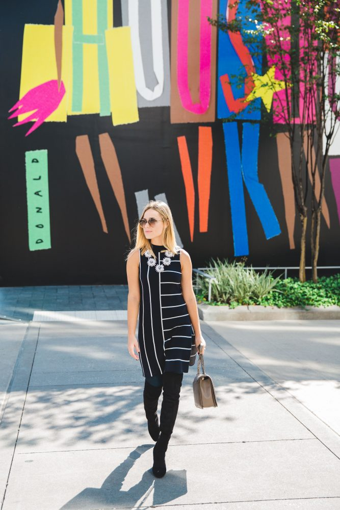 Over the Knee boots   Fall outfit   How to wear tunic   Uptown with Elly Brown