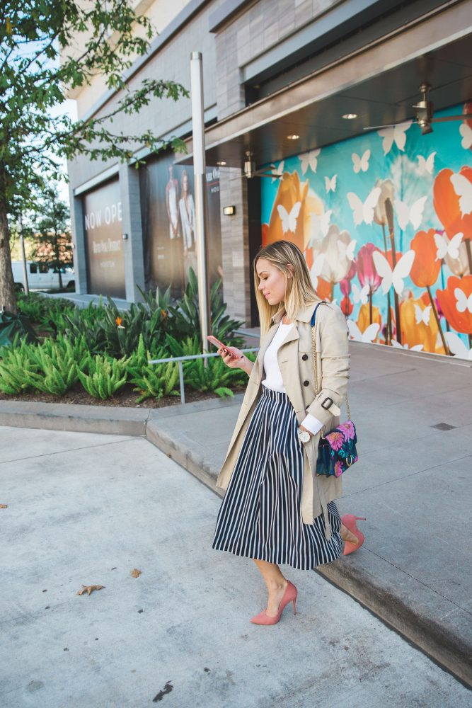 Chic work outfit   Trench Coat outfit   How to layer   Uptown with Elly Brown