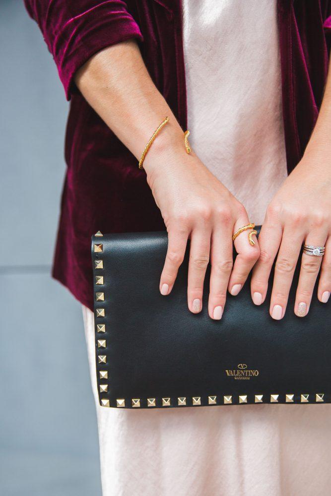 Lauren Conrad Runway Collection | Velvet Blazer | Silk Dress | Uptown with Elly Brown
