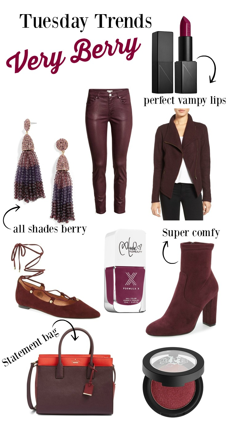 One of Fall 2016 hottest color Very Berry   Fall Trends   Uptown with Elly Brown