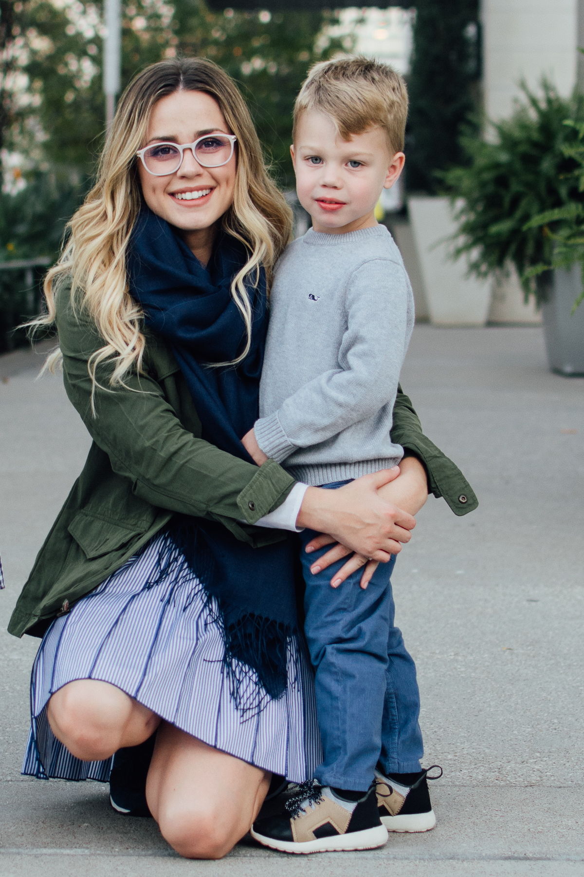 Raising kids to love | Mommy and me fall look with Vineyard Vines | Uptown with Elly Brown