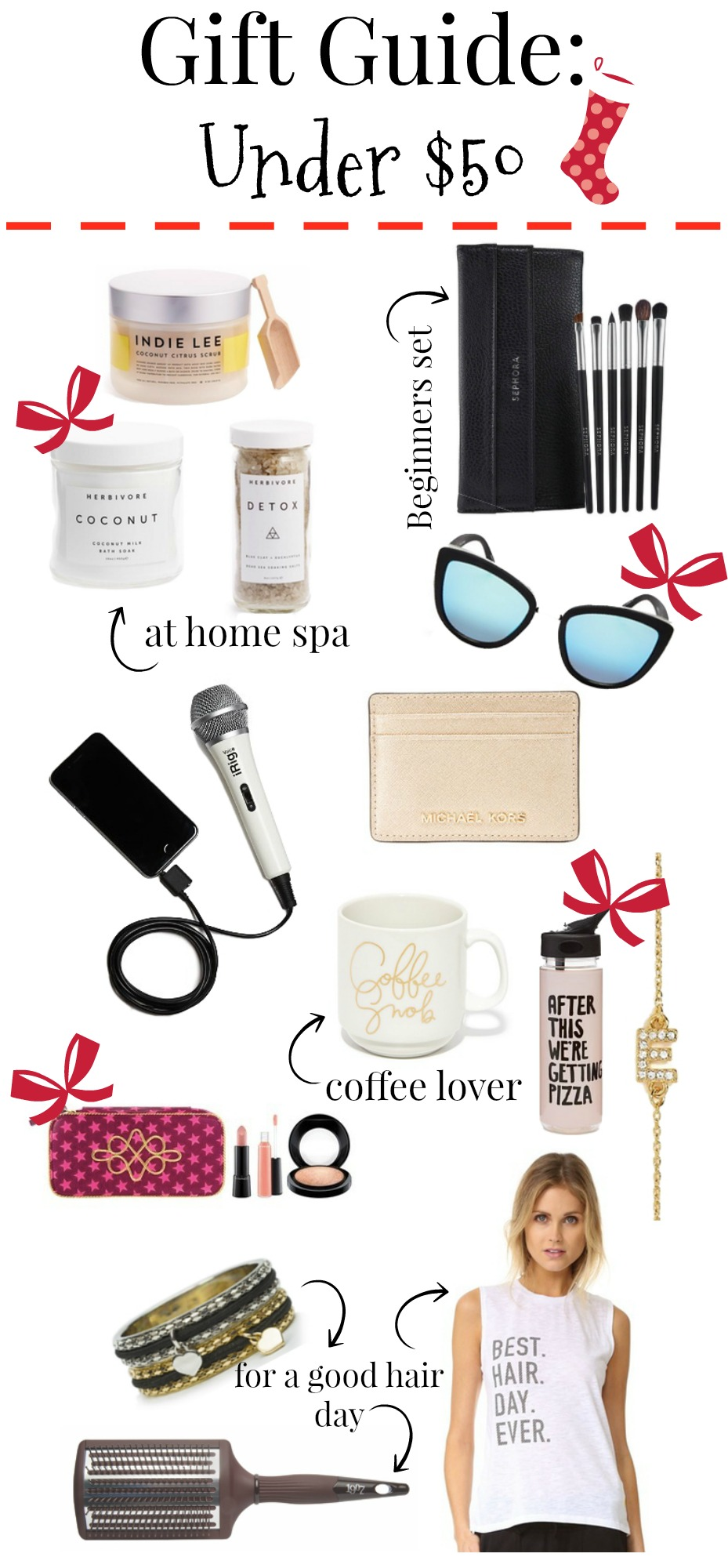 Holiday gift guide under $50 | Gift ideas under $50 | Gift Ideas for her | Uptown with Elly Brown - Holiday Gift Guide under $50 by Houston style blogger Uptown with Elly Brown