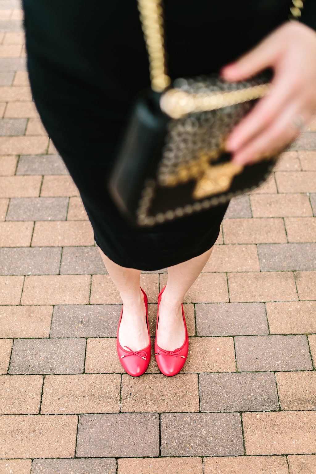 Houston Fashion Blogger Uptown With Elly Brown shares the number one must have every expecting mother needs- Ballet flats!