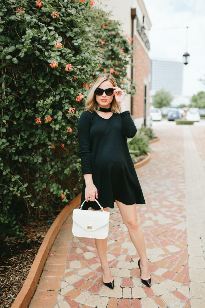 Little black dress outfit | LBD look | Maternity fashion | Maternity outfits | Uptown with Elly Brown