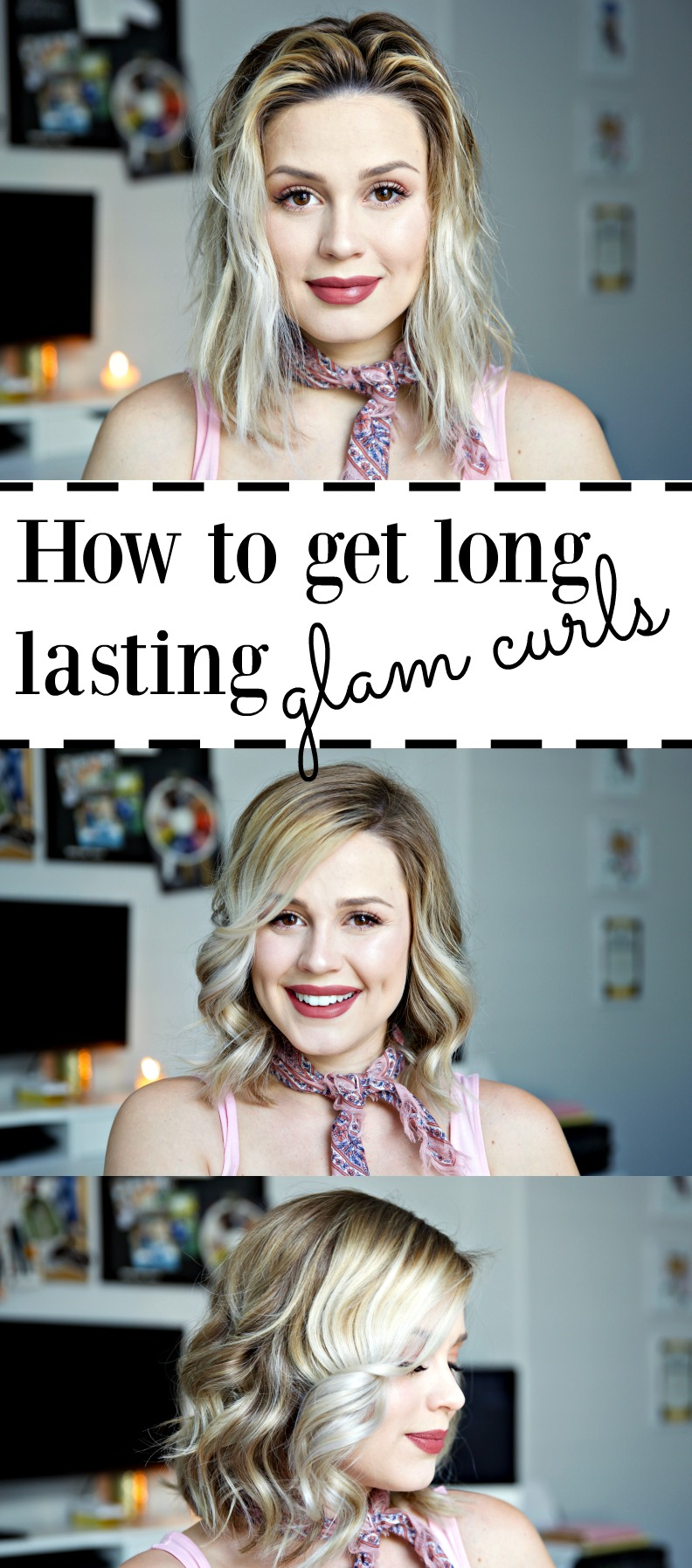 Houston beauty blogger Uptown With Elly Brown shares how to get glam curls for any length hair and how to make them last more then one day!