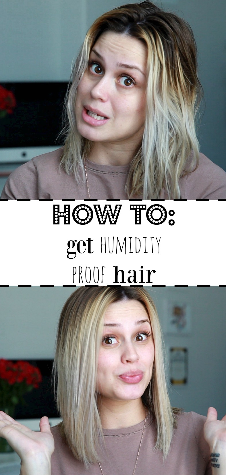 How to get humidity proof hair | Sleek hair Tutorial | Straight hair tutorial | Uptown with Elly Brown
