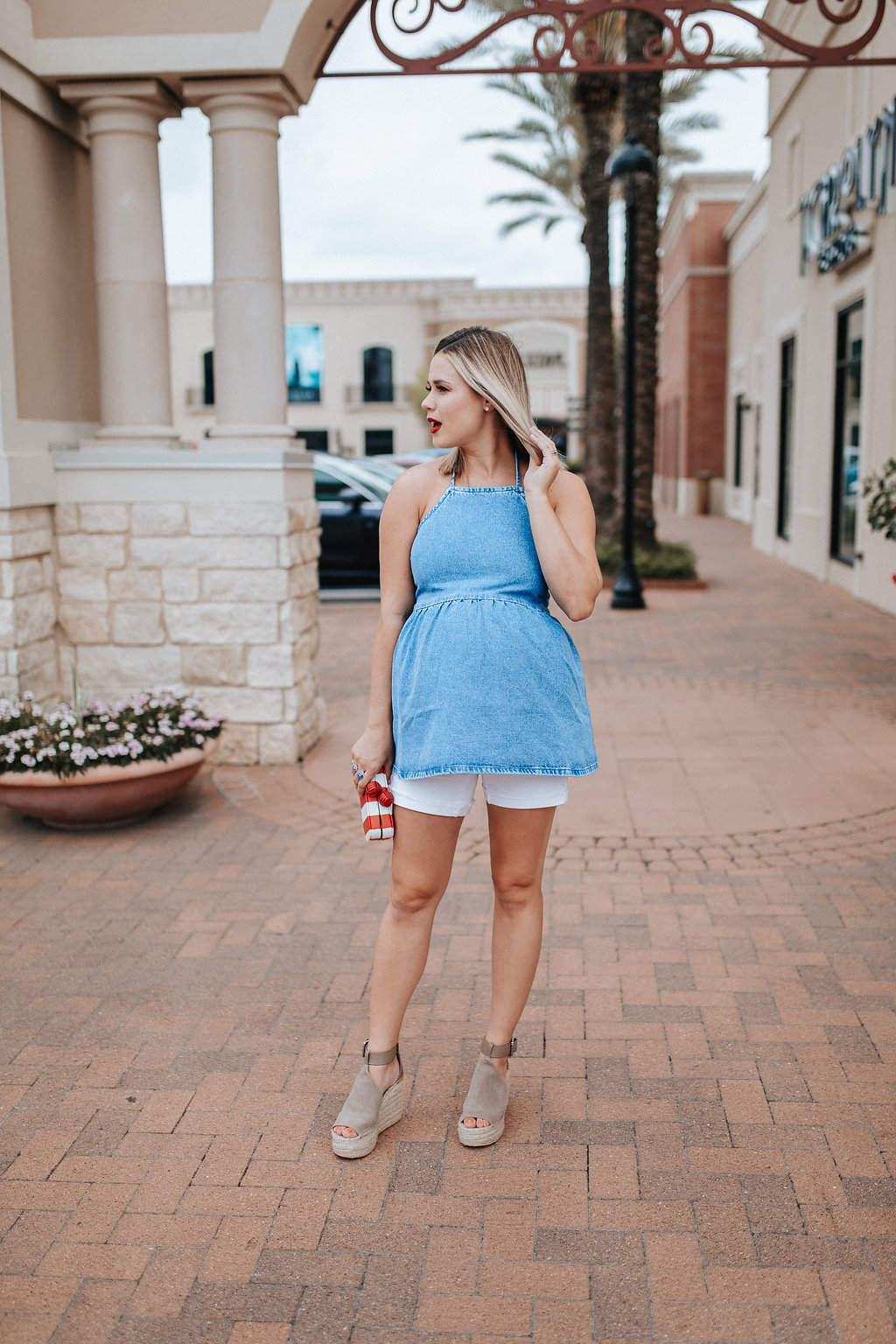 4th of July Outfit Maternity Style | Red, white, and blue outfit | Maternity fashion | Uptown with Elly Brown