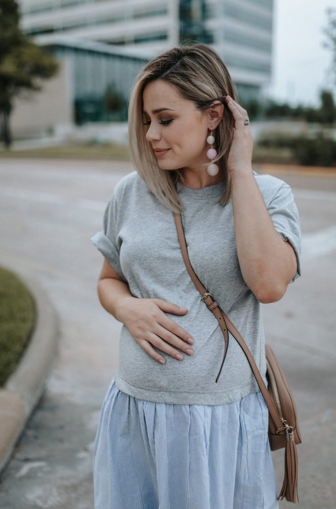 Bump Update: 32 weeks pregnant x ASOS T-shirt dress by fashion blogger Uptown With Elly Brown