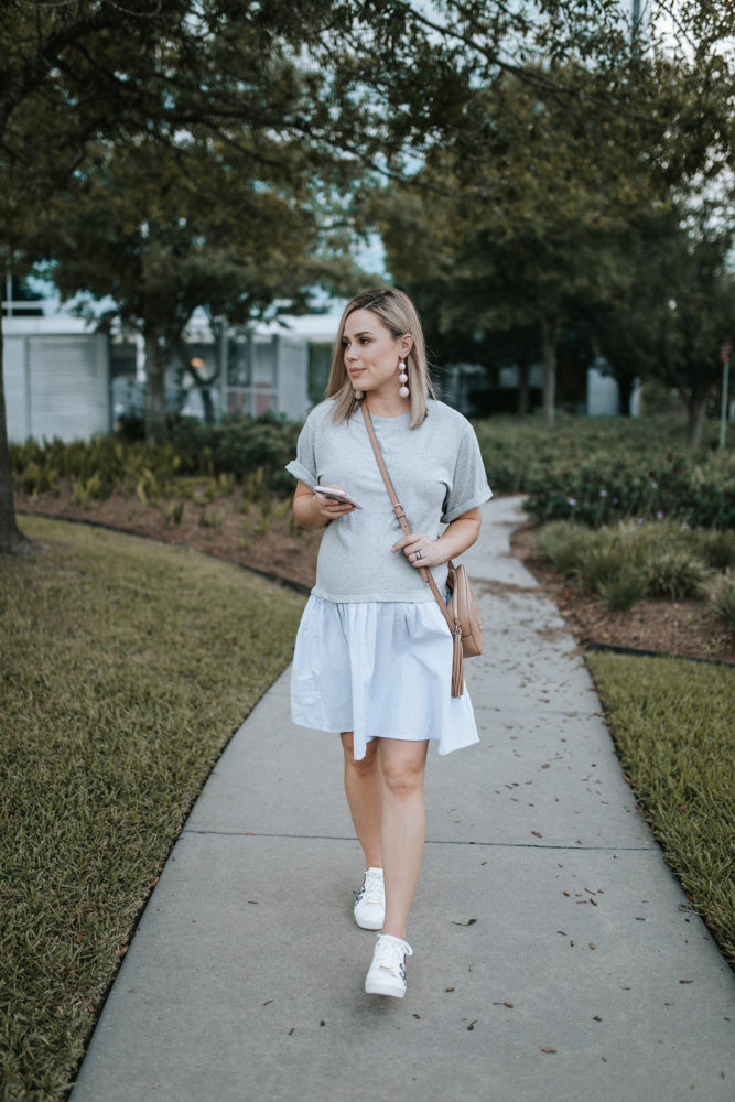 Maternity outfit | ASOS maternity T-shirt dress | Maternity Fashion | Uptown with Elly Brown