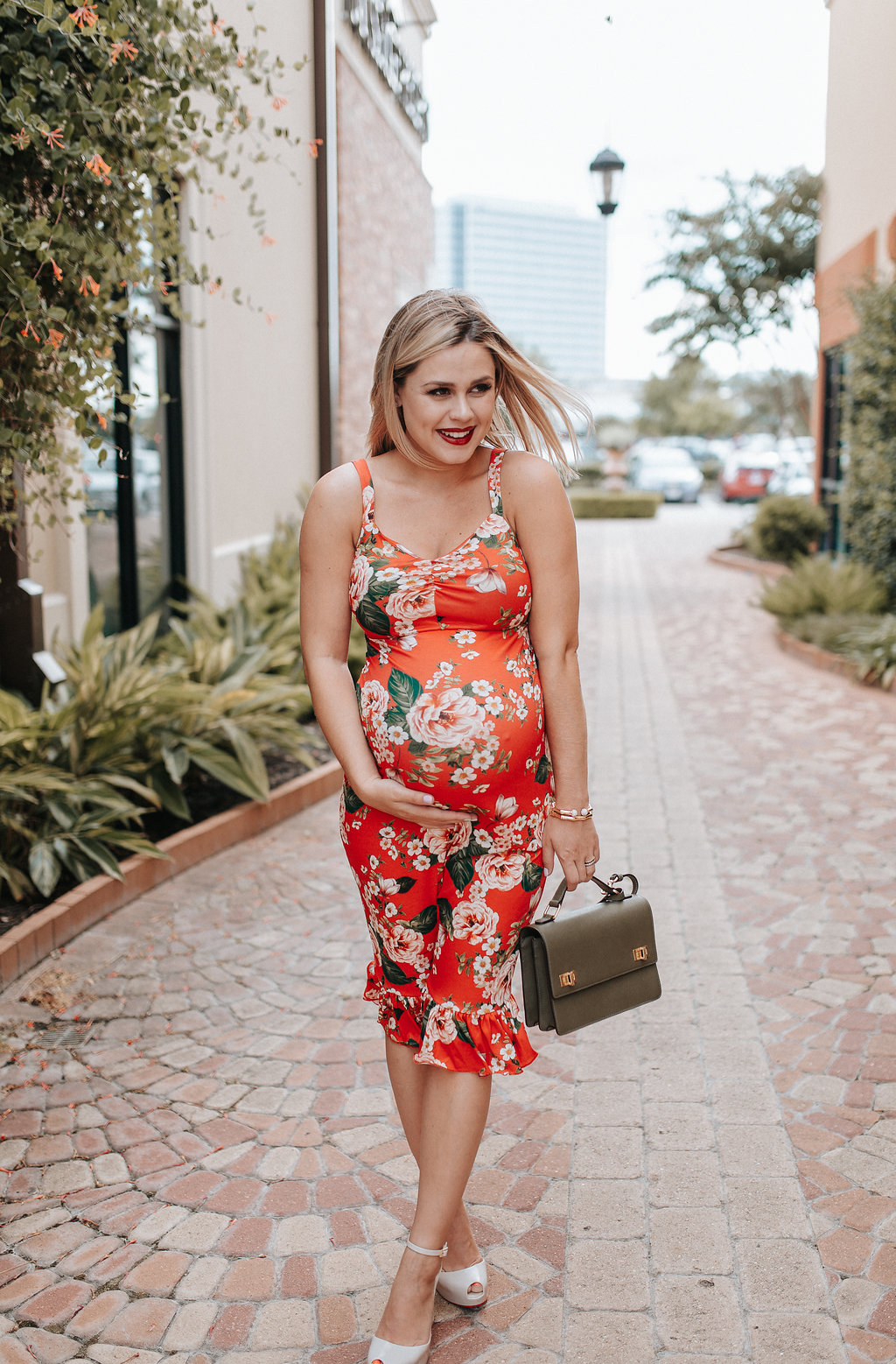 Maternity Fashion | Floral dress | ASOS Maternity dress | Summer Dress | Uptown with Elly Brown