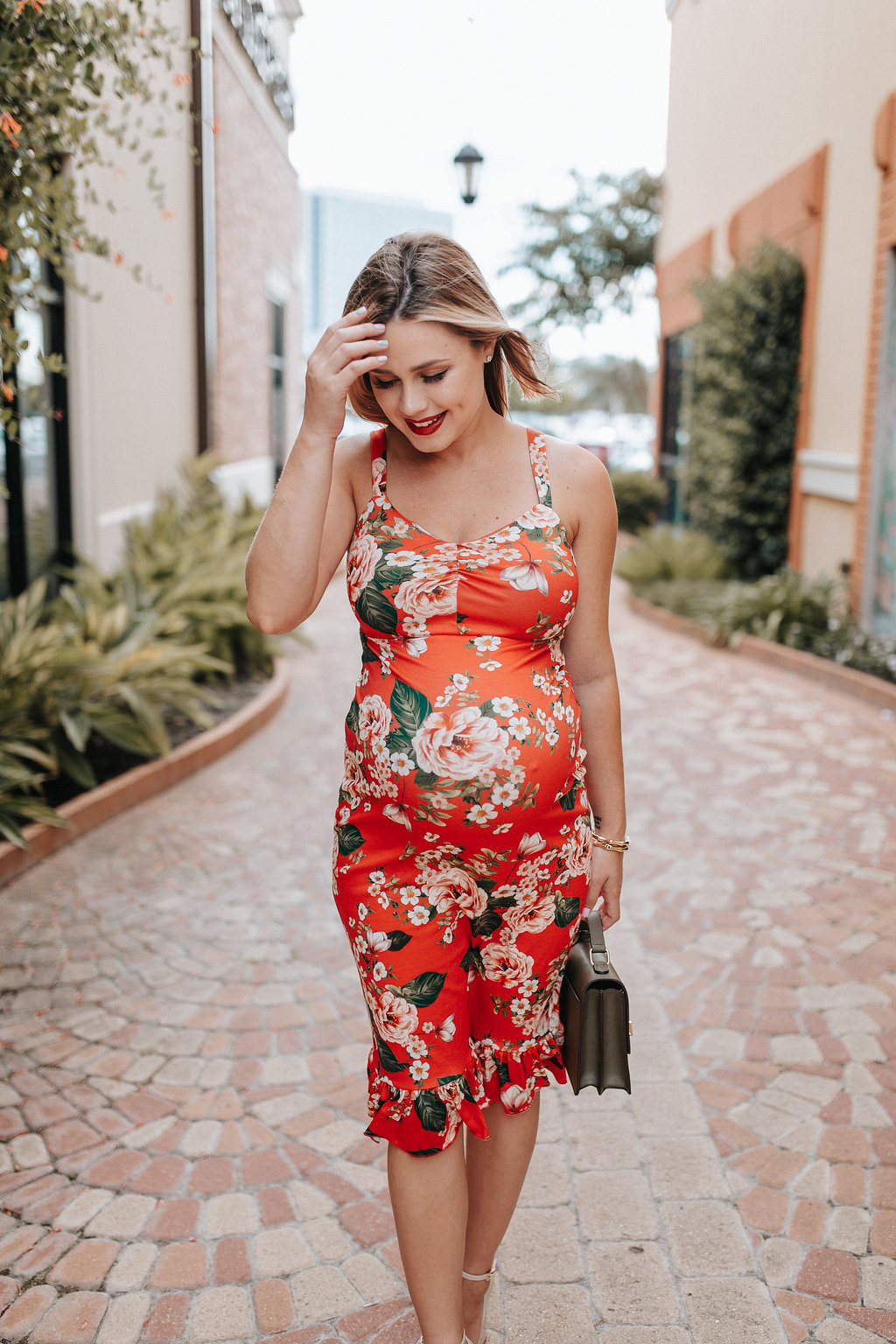 Floral Dress X 36 Weeks Pregnancy Update | Houston Lifestyle blogger Uptown with Elly Brown