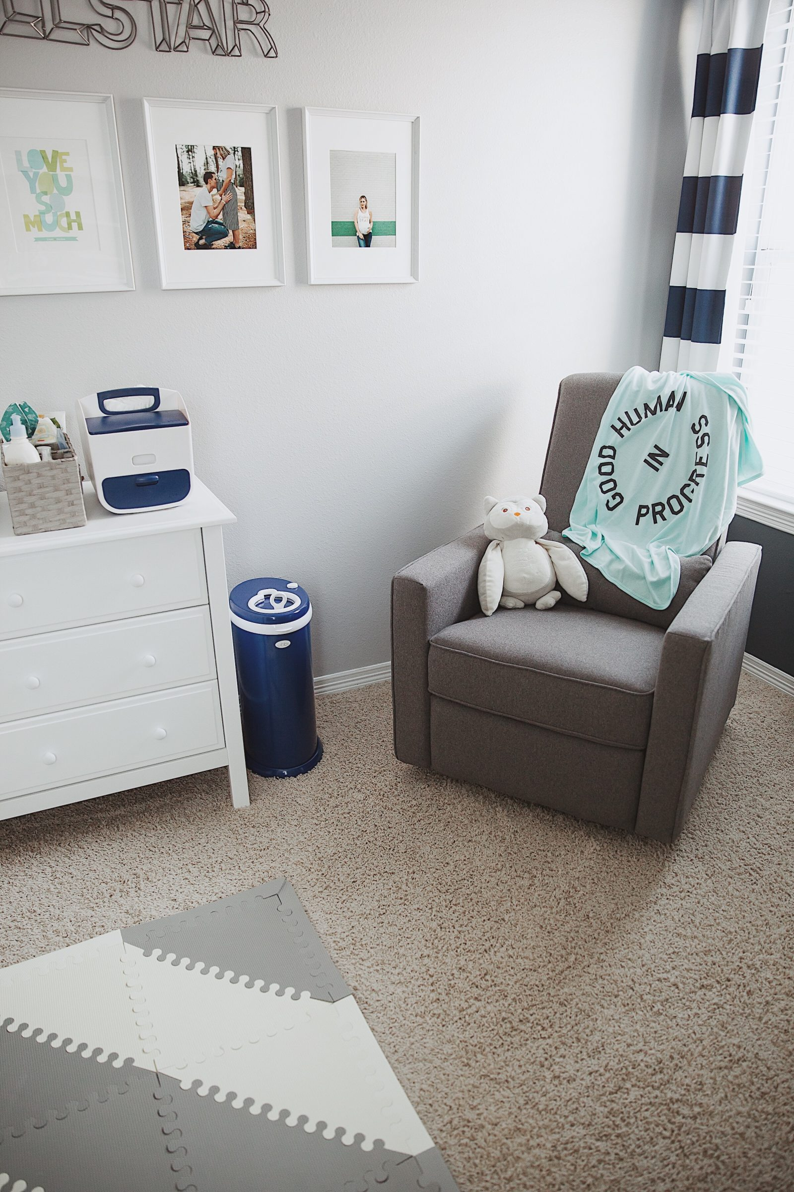 Liam's Baby Boy Nursery Reveal by Houston blogger Uptown with Elly Brown