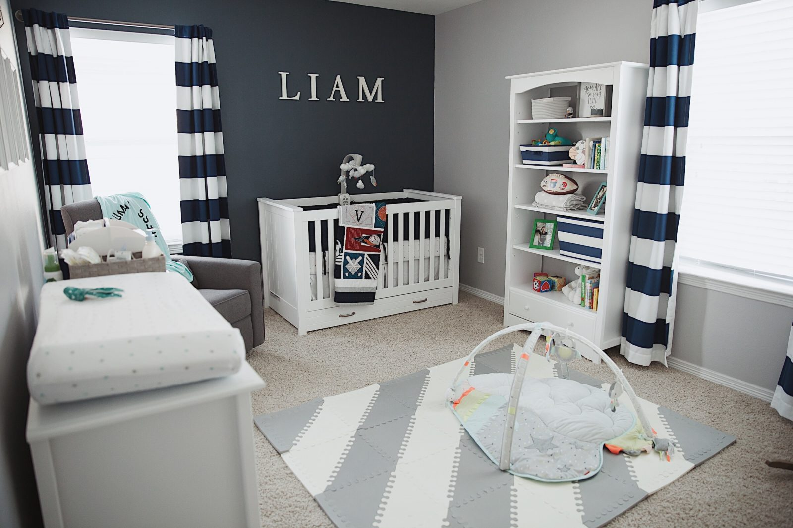 Baby Boy Nursery Reveal Decor Uptown With Elly Brown