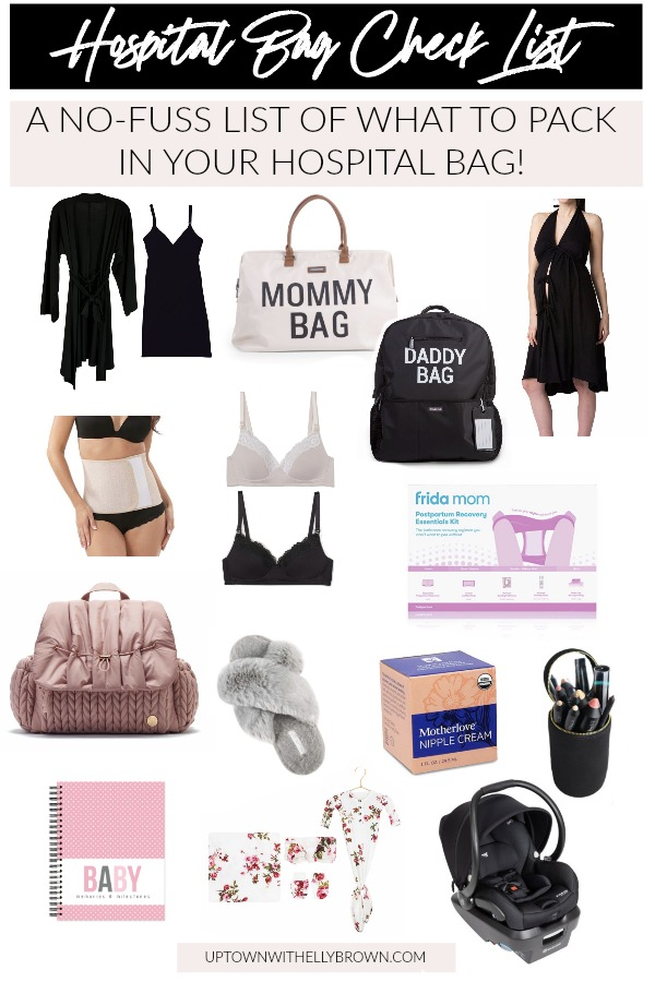 Houston blogger Uptown with Elly Brown has learned what she needs to give birth at the hospital and shares what to pack in your hospital bag. Read more!