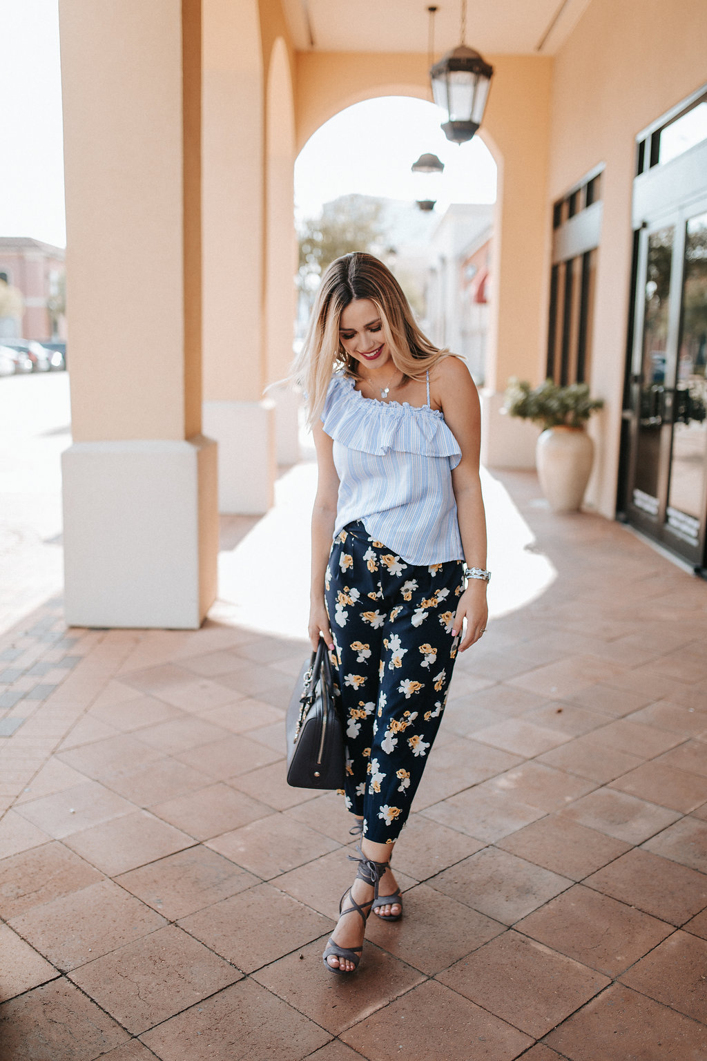 How to wear Floral pants | Target outfit | J by J.O.A Target | Uptown with Elly Brown