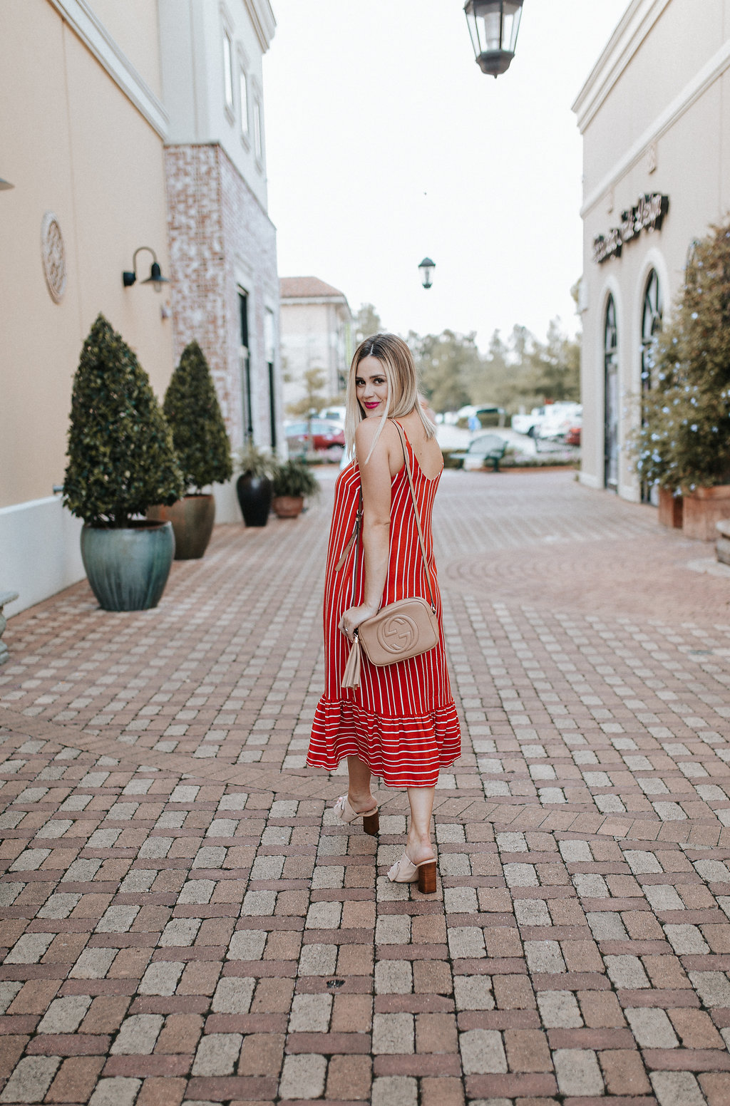 Red Striped Dress   Amazon Fashion   Paris Sunday Dress   Uptown with Elly Brown