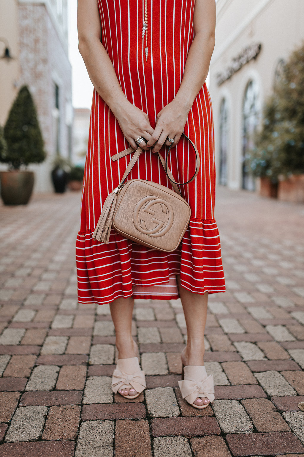 Red Striped Dress | Amazon Fashion | Paris Sunday Dress | Uptown with Elly Brown