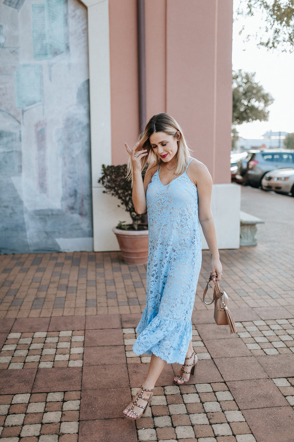 Blue lace dress | Maxi lace dress | Summer Dress outfit | Summer outfit ideas | Uptown with Elly Brown - My Life Story, High School Dropout by Houston lifestyle blogger Uptown with Elly Brown