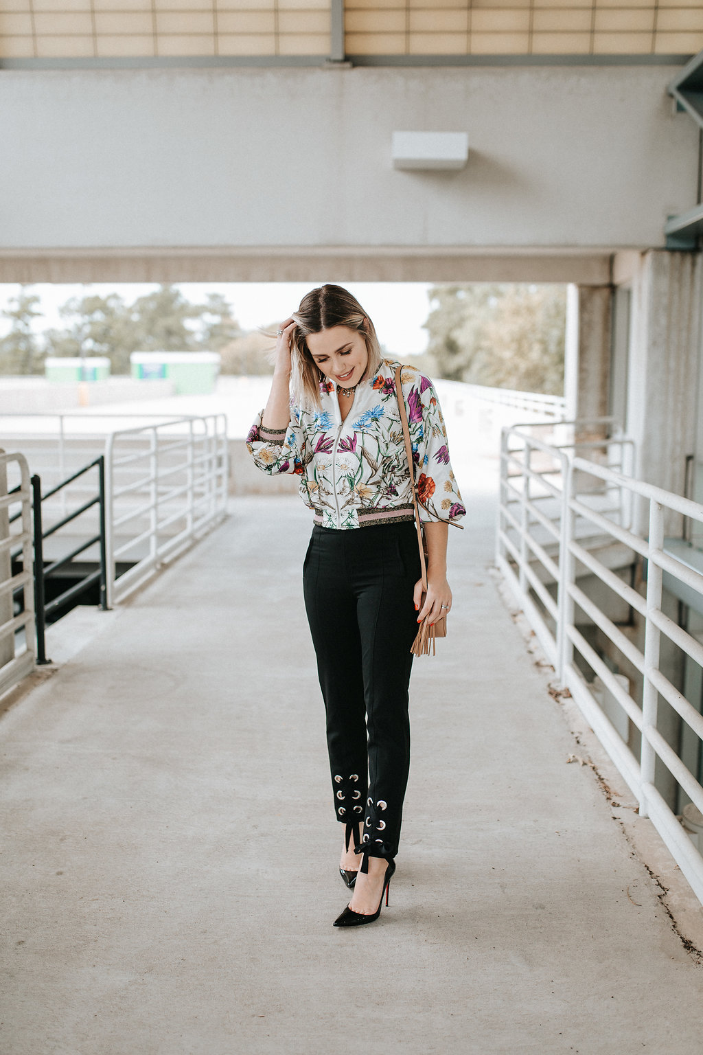 Floral Bomber Jacket | Anthropolgie jacket | HM pants | Floral Jacket | Uptown with Elly Brown