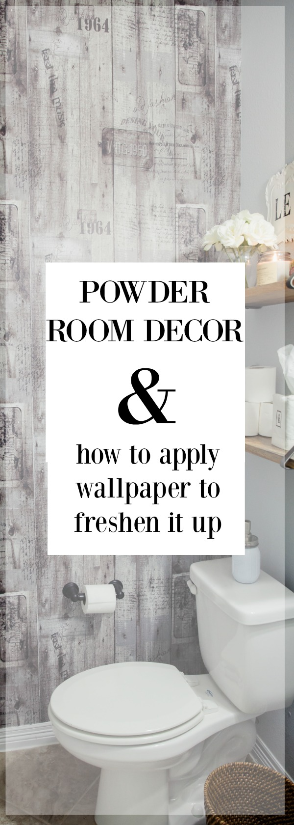 Powder Room Decor | Powder room ideas | Wallpaper Ideas | Uptown with Elly Brown