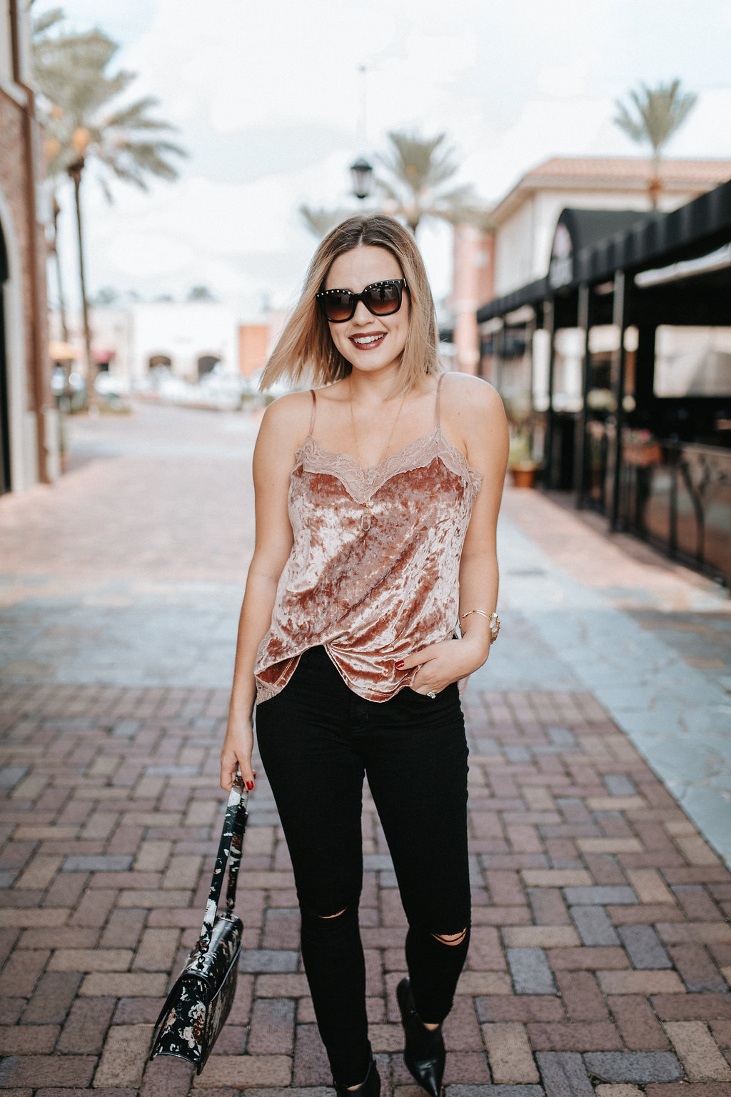 Crushed Velvet Top, Hot or Not? by Houston fashion blogger Uptown with Elly Brown