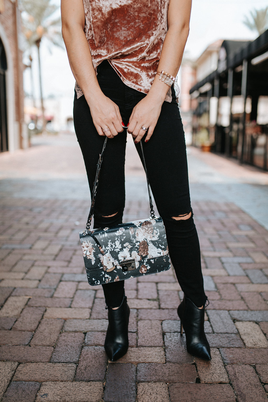Crushed Velvet trend | Fall trends | Fall outfit | Casual outfit | Uptown with Elly Brown