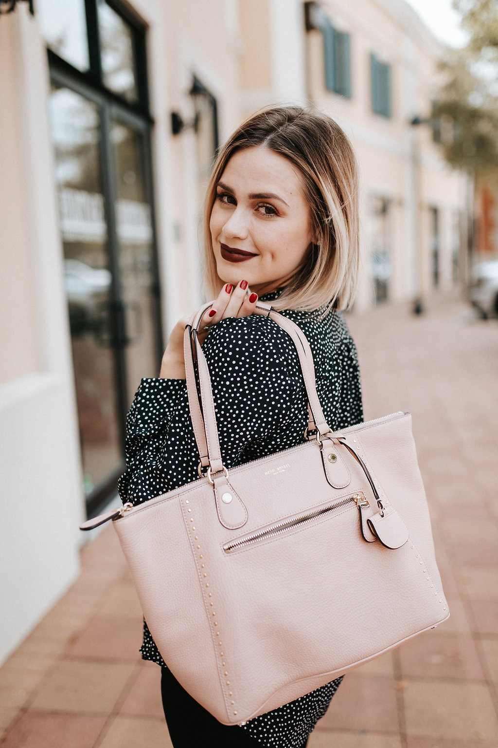 Lulu's Polka dot shirt | Fall outfit | Uptown with Elly Brown