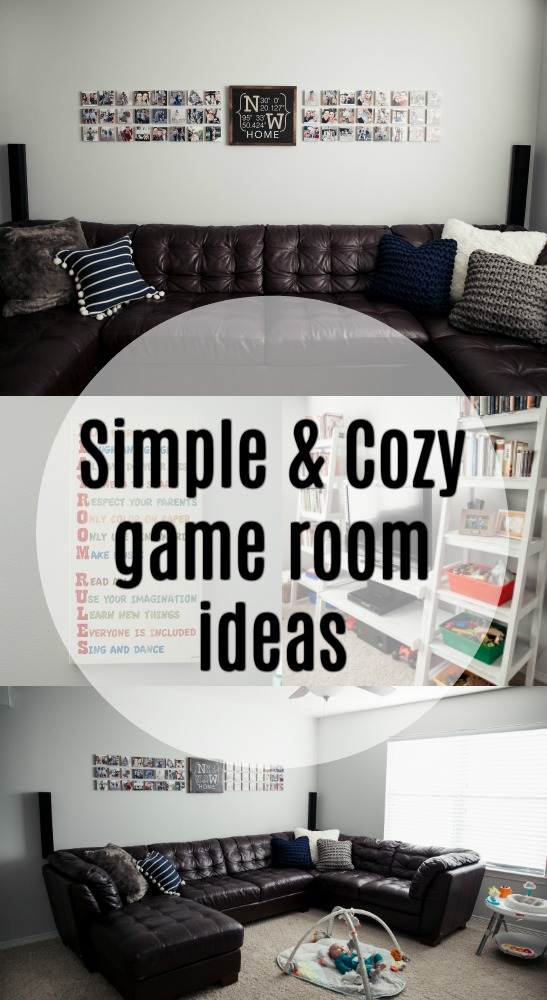 Game Room Ideas | Simple Game Room | Play Room for Kids | Gallery Wall | Uptown with Elly Brown