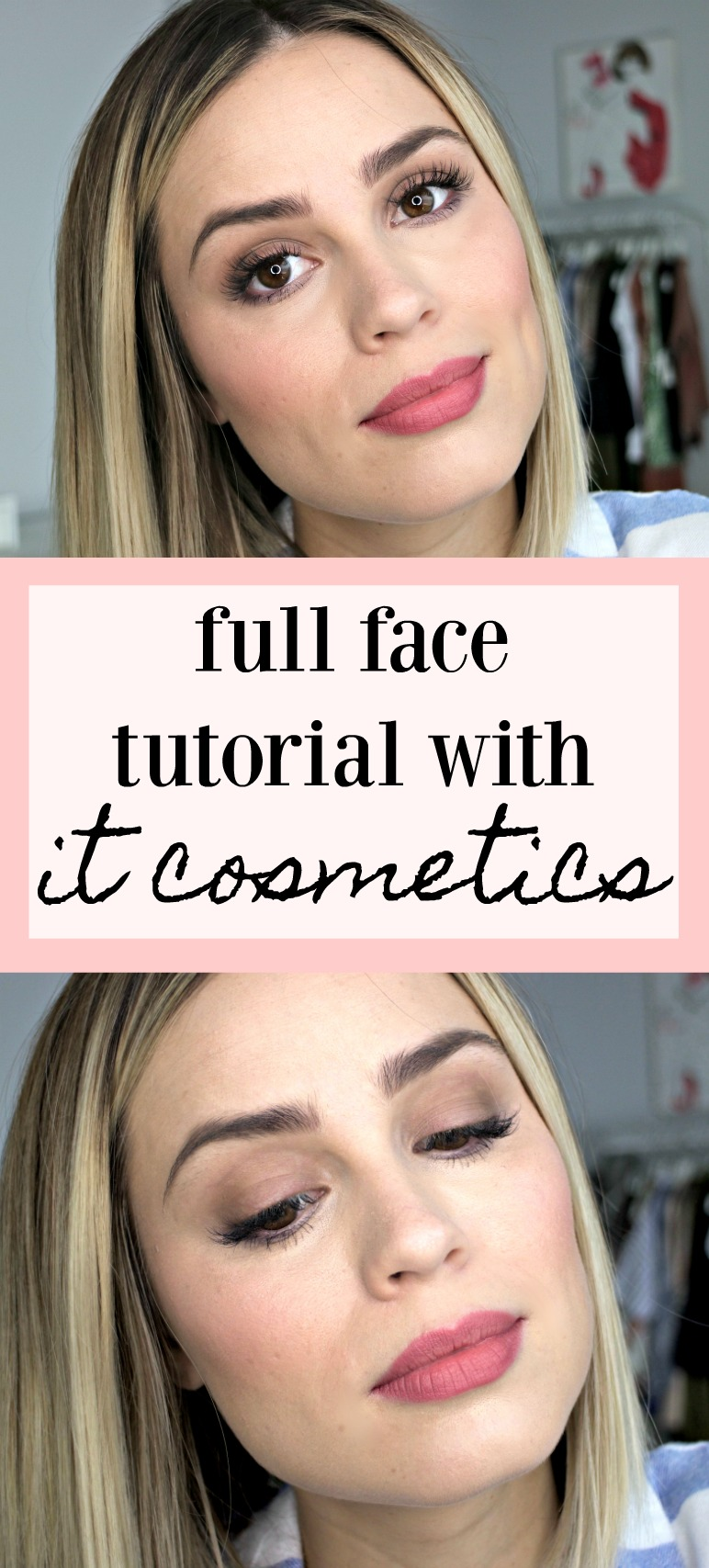 Full Face Makeup Tutorial with it cosmetics by Houston beauty blogger Uptown with Elly Brown
