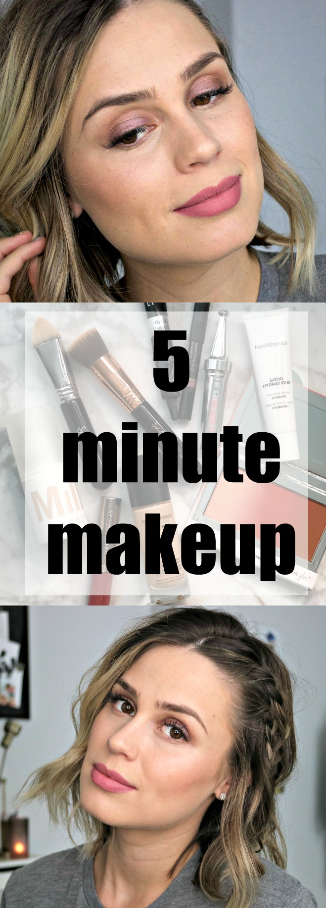 Everyday Makeup | Easy everyday makeup | Uptown with Elly Brown - Everyday Makeup in Under 5 minutes by Houston beauty blogger Uptown with Elly Brown