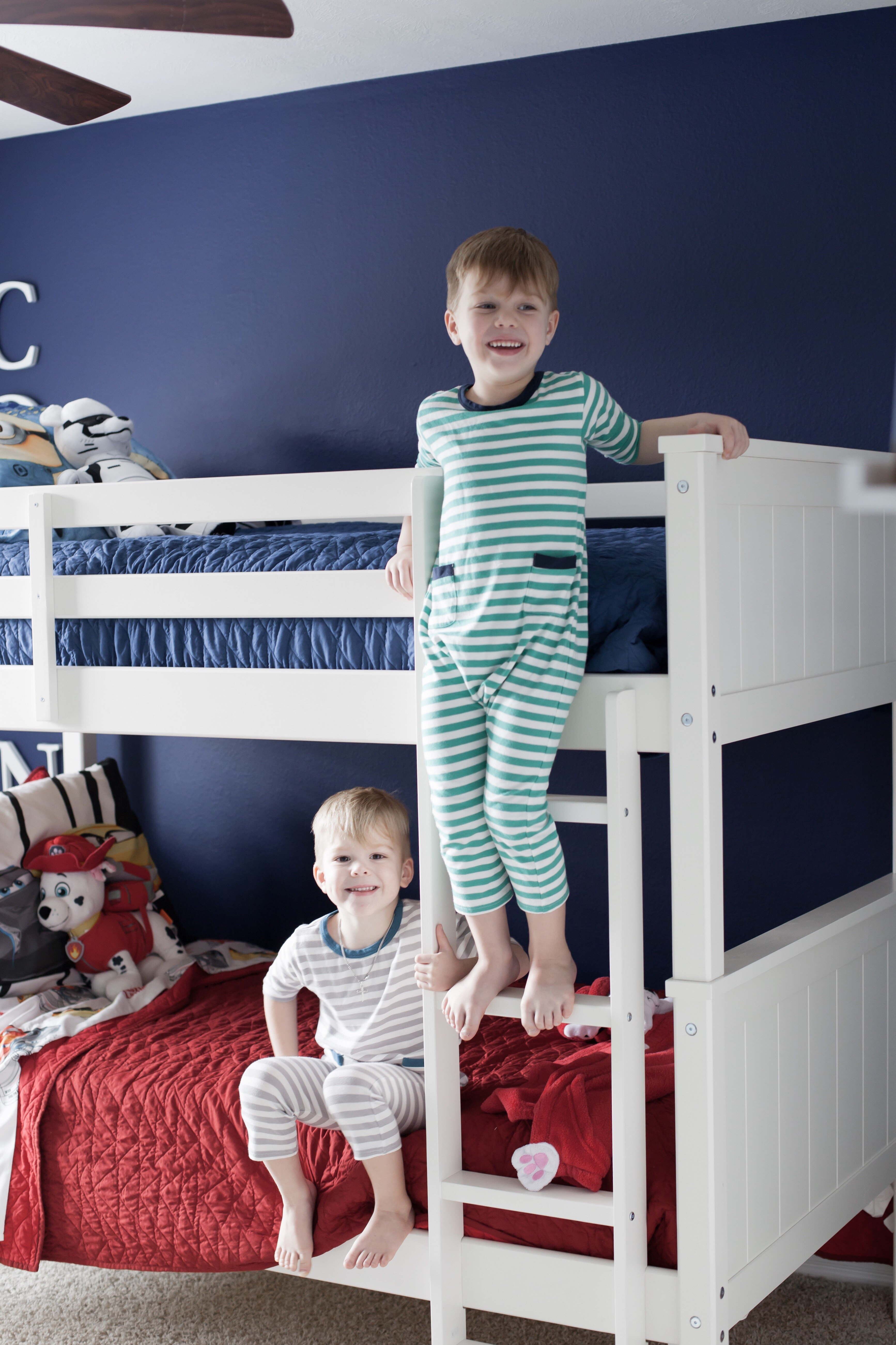 Shared toddler room ideas   shared boy room ideas   shared room decor ideas   toddler boy room   Uptown with Elly Brown