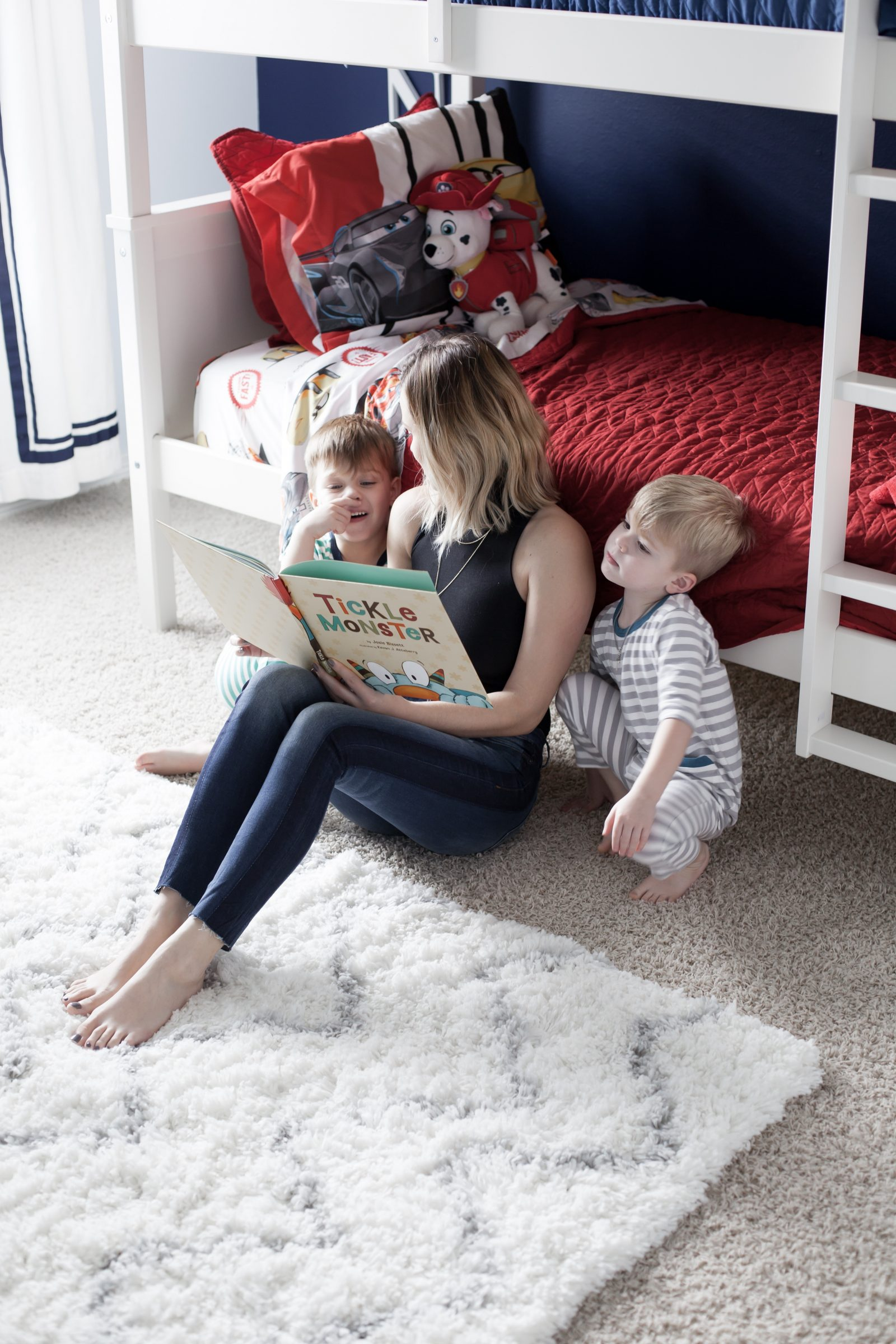 Houston lifestyle blogger Uptown with Elly Brown talks about her Irish twin boys have a Shared Toddler Room. Click here for more!