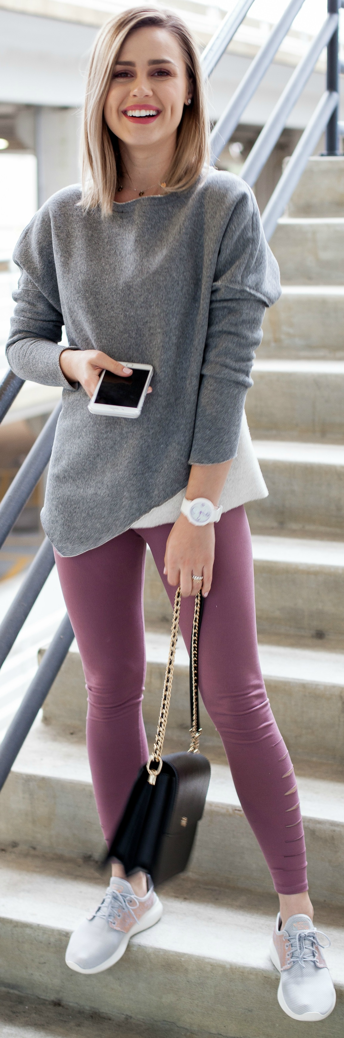 Athleisure Outfit   Casual outfit   chic legging outfit   Abercrombie leggings   Uptown with Elly Brown