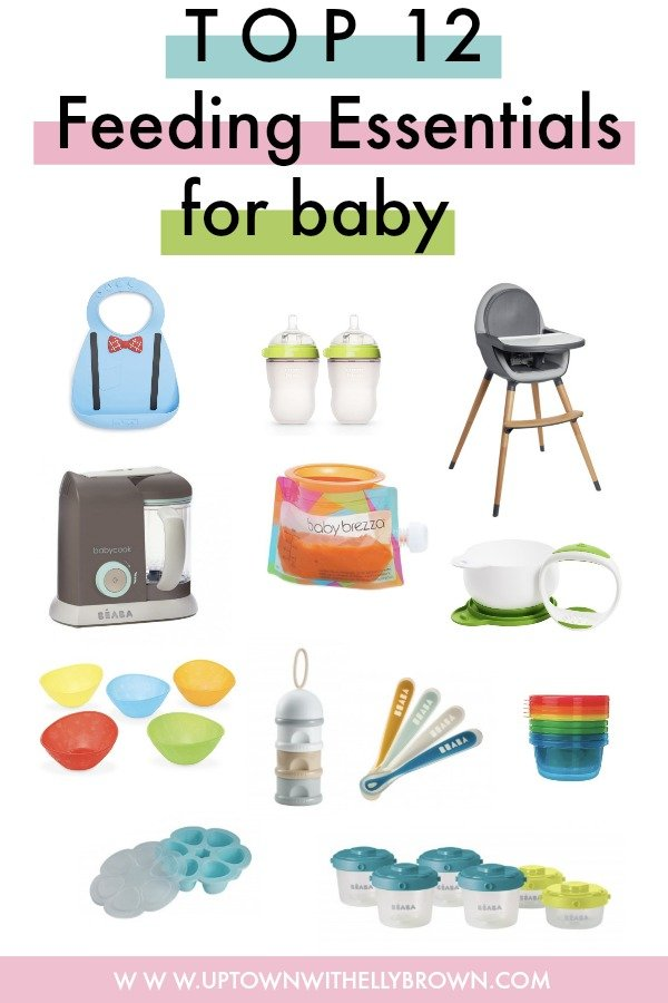Houston lifestyle blogger Uptown with Elly Brown shares her tried and true top 12 Feeding Essentials For Baby and why she loves them so much. Click here for more!