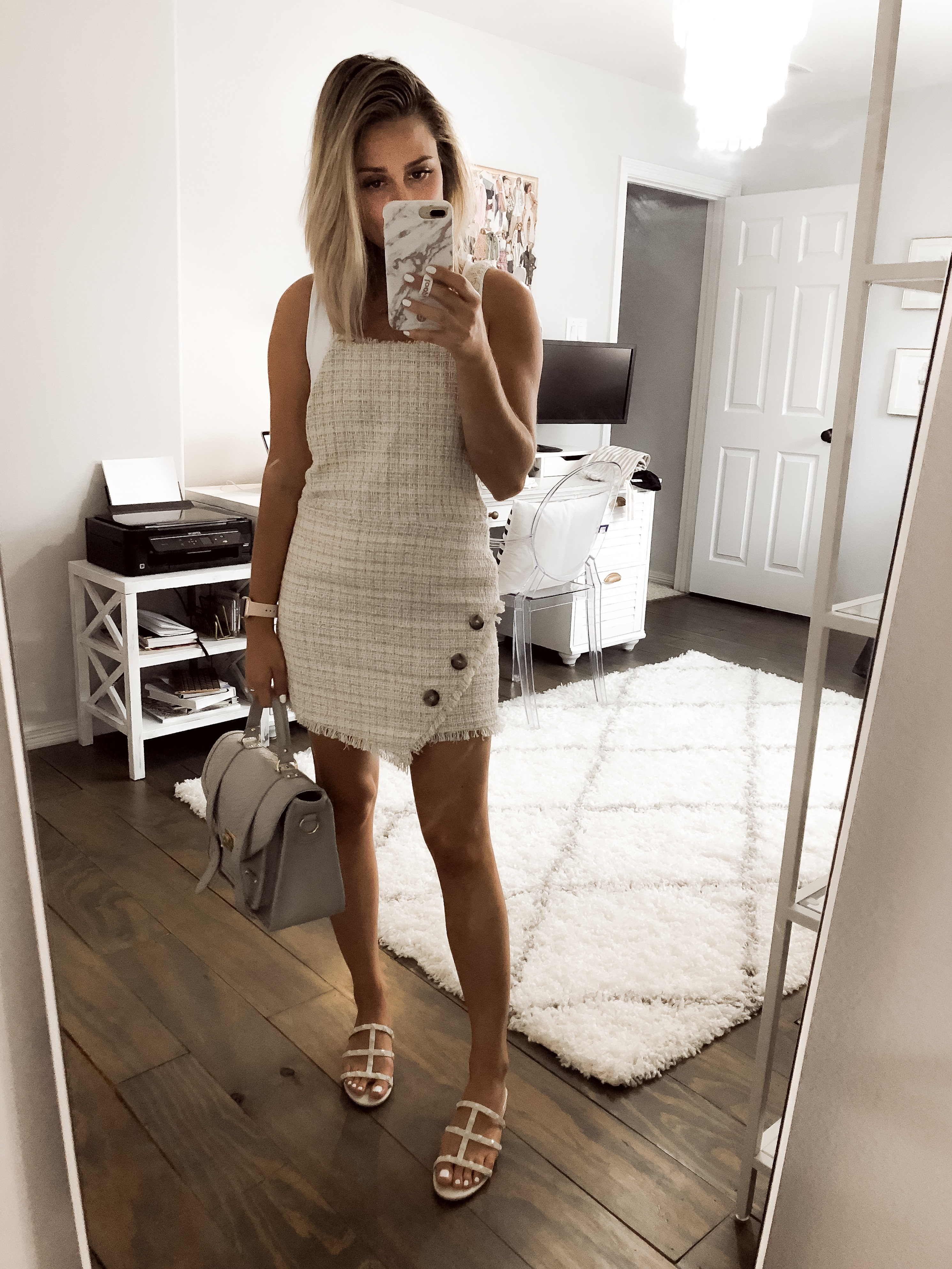275056dcc22 ... Houston fashion blogger Uptown with Elly Brown shares her Zara Haul and  her favorites items in. top   tweed dress ...