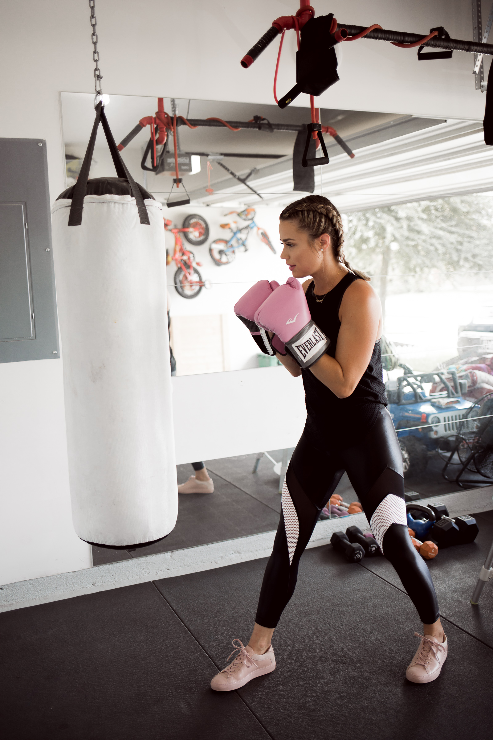Houston fashion blogger Uptown with Elly Brown wears Koral workout clothes