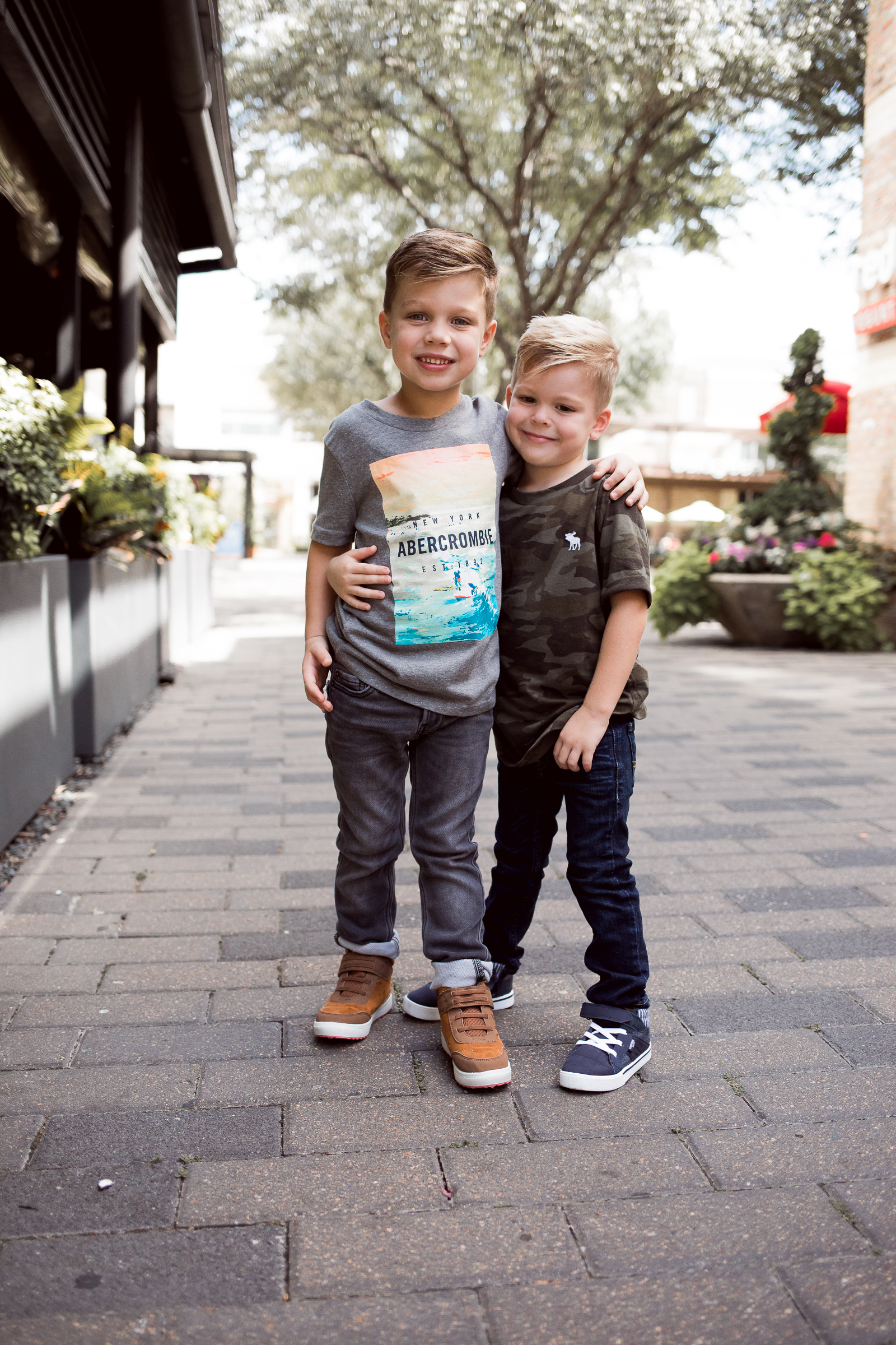Houston fashion blogger Uptown with Elly Brown shares how to dress your kids in style with Abercrombie kids for Back to School!