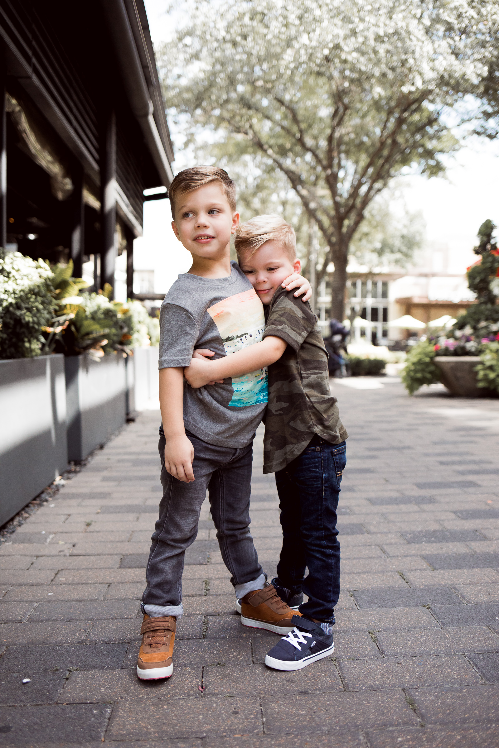 Houston fashion blogger Uptown with Elly Brown shares how to dress your kids in style with Abercrombie kids denim line for boys.
